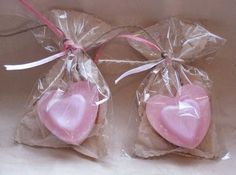 Glycerin hearts.     Party Favors