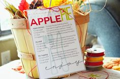 Printable 4 x 6 recipe tag card to make an apple pie kit that includes the dry ingredients to make it. Two Shades of Pink