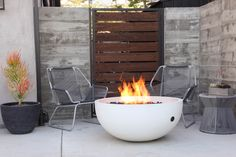 || Ember Firebowl || Handmade out of lightweight concrete by Concrete Wave Design in California