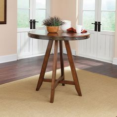 Sauder Carson Forge Round Counter Height Dining Table, Washington Cherry: Furniture : Walmart.com