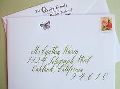 Cynthia Warren Letterpress and Maybelle's calligraphy = love