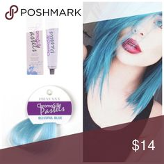 Pravana ChromoSilk Vivid Blissful Blue Pastel* ChromaSilk VIVIDS are the most vibrant, long-lasting colors. These Semi-permanent colors and are applied directly to clean, dry, pre-lightened hair and is not mixed with any developer.   Want to bundle more Pravana vivid tubes? I have a wide range of inventory in stock.  Vivids Colors* Red Violet Blue Green Pink Magenta Wild Orchid Yellow  Neon Colors* Neon Pink Neon Orange Neon Yellow Neon Blue Neon Green   Pastel Colors* Luscious Lavender…
