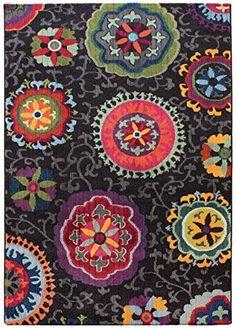 Teppich modernes Design COLORES FLORAL RUG BLACK 80 cm x ... https://www.amazon.de/dp/B01GDC4E8M/ref=cm_sw_r_pi_dp_x_5Rq2xbFVA23RA