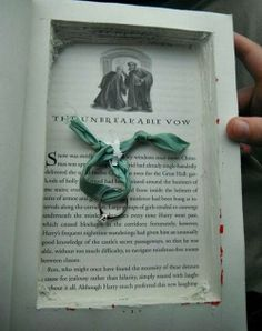 the harry potter way of proposing (just make sure its not her copy that you ripped up)
