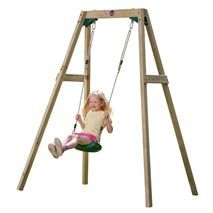 The Wooden Single Swing Set is Plum's take on the traditional playground favourite. See who can swing to the sky! Single Swing, Double Swing, People Cutout, Cut Out People, Garden Swing Sets, Yard Swing, Swing Seat, Kids Play Equipment, Render People