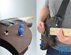 3D Printed ergonomic guitar