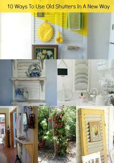 10 ideas to inspire you to repurpose old shutters in new ways