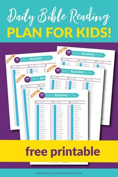 FREE Daily Bible Reading Plan For Kids