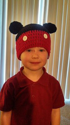 Butterfly's Creations: Mickey Mouse & Minnie Mouse Beanies