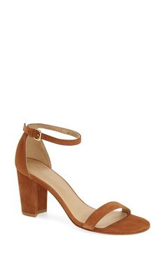 Stuart Weitzman 'Nearlynude/Simple' Ankle Strap Sandal (Women) available at #Nordstrom