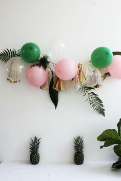 Tiki with a hint of sophistication! We love this classy, tropical party theme. Inspired by palm trees, pineapples, and hues of light pink, this gorgeous combin