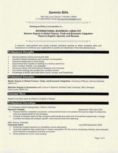 graduate student resume example