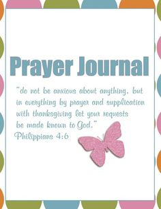 #FREE #Prayer Journal Printables - strengthen your prayer life with a personal prayer journal! Includes specific areas of focus for children, husband, nation, and more.