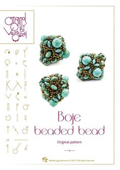 Beading tutorial / pattern Boje beaded bead Beading instruction in PDF – for personal use only by beadsbyvezsuzsi on Etsy