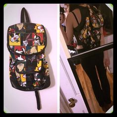 Vintage looney tunes backpack90s cartoon babe Super cute looney toons official 90s backpack  medium large can fit college essentials or for fashion  moving so downsizing or else I wouldn't sell this super cute backpack  not UNIF or free people UNIF Bags Backpacks