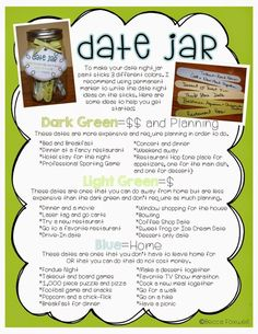 Date jar ideas! date night basket, date night jar, home date night ideas Creative Date Night Ideas, Cute Date Ideas, Date Ideas Jar, Gift Ideas, Date Night Jar, Marriage Life, Love And Marriage, Couple Activities, Couple Games