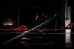 "ITALY. Milan. April 17, 2016. Design Week. The event ""The Nature of Motion"" by Nike@Fabbrica Orobia 15. Orobia factory was built in 1920; its buildings are now used for fashion shows, photo shoots, conventions, film or television sets. It is located near Fondazione Prada and ""Symbiosis"" a project for a new Start Up area, in a former industrial district that is becoming a hub for fashion, art, culture and IT."