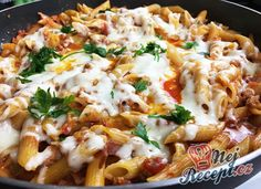 Recept Vynikající oběd za 20 minut z jedné pánve Lunch Recipes, Pasta Recipes, Cooking Recipes, Healthy Recipes, Ground Meat Recipes, Salty Foods, One Pot Pasta, Simply Recipes, Macaroni And Cheese