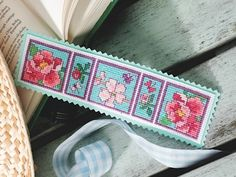 Spring bookmark - great for Mother's Day #crossstitch - free chart on cross-stitching.com