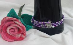 """Wickelarmband mit Anhänger Hand """"Hand Made"""" von Steffi's Schmuckkästchen auf DaWanda.com"""
