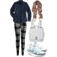 A fashion look from March 2015 featuring J.Crew tops, NIKE shoes and Proenza Schouler backpacks. Browse and shop related looks.