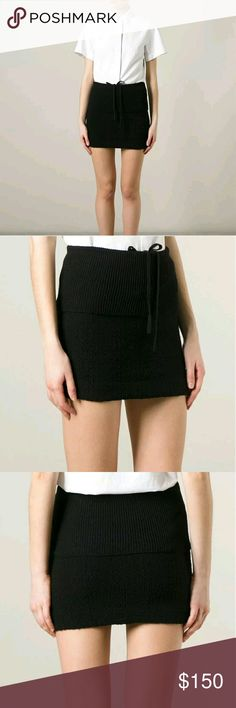 Acne Studios Hanna knit mini skirt Excellent condition! Comfy stretchy knit mini skirt in black. Acne Skirts Mini