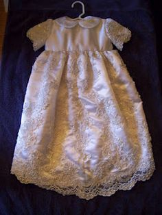 Repurposed wedding dress / christening gown, www.sewingbymaudy.com