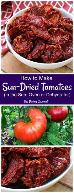 How to Make Sun Dried Tomatoes Make Sun Dried Tomatoes, Heirloom Tomatoes, Cherry Tomatoes, Tomato Pie, Tomato Soup, Tomato Risotto, Tomato Gravy, Tomato Salad, Tomato Basil