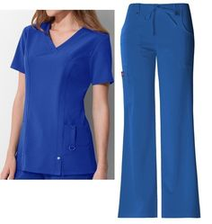 TOP / 82851  . Fit V-Neck Top Style# 82851. PANT / 82011. Fit Mid-Rise Drawstring Cargo Pant Style # 82011. DICKIES Xtreme Stretch ROYAL - RYLZ. 2 PIECE SCRUB. A Junior fit, mid-rise, moderate flare leg pant features an adjustable drawstring with full elastic waist, belt loops with decorative logo eyelet snaps. | eBay!