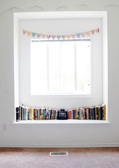 bunting always adds to a window seat