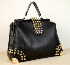 b040c7a017966 European Style Ladies' Rivet Punk Shoulder Bag Tote Purse 2013 NEW New  Handbags, Replica