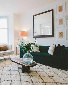 Charmant Geometric Wall Prints   Easy Home Decor. Green Velvet SofaGreen ...