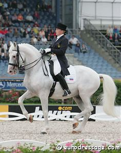 The perfect piaffe demonstarted by Balagur and Alexandra Korelova. They recieved 10s for their piaffe at the 2009 Aachen Grand Prix.