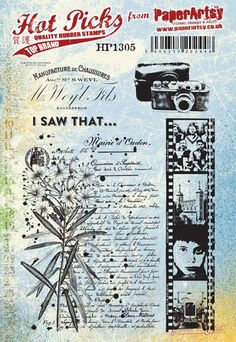 Hot Pick 1305 - EZ Mount New A5 size stamps plates from PaperArtsy Fabulous collaged stamps images and stuff you can t wait to get your mitts on A5