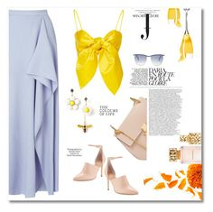 """""""Yellow Mellow"""" by meenz92 ❤ liked on Polyvore featuring Halston Heritage, Chloé, Roland Mouret, Tory Burch, Leal Daccarett, Industrie, Balmain, Summer, summerstyle and contestentry"""