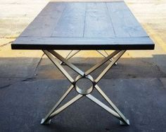 Modern Dining Table X Legs Heavy Duty Metal Legs by DVAMetal: