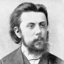 "Russian composer Modest Mussorgsky (1839-1881) was a Russian Nationalist composer of the opera ""Boris Godunov,"" (1873) which is considered his masterpiece."
