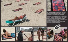 by Israel Cancer Association.  Ambient marketing activity to increase awareness to sun damage and skin cancer.