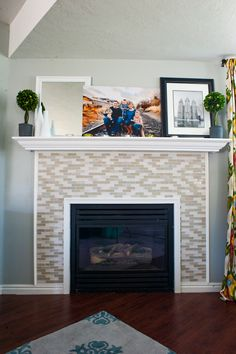 Budget Wise Home — Decorating on a Budget - instructions on how to make this fireplace