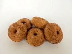 Pack of 5 Artificial Mini Donuts Coated with Cinnamon & Sugar