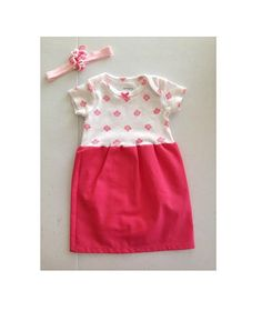 Super Cute Onsie Dress with matching Bow.
