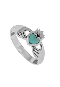 ah turquoise and claddagh?! perfect combo.