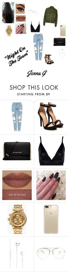 """""""Night on the Town!! ♢"""" by iamjennagarcia on Polyvore featuring Topshop, Michael Kors, Boohoo, Derriére, Nixon and Speck"""