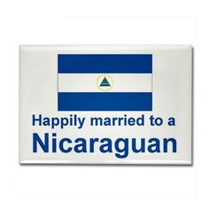 Happily Married To A Nicaraguan Rectangle Magnet