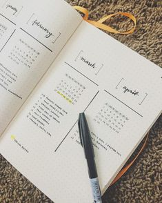 Future long layout in a minimalist bullet journal