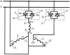 Полупроводниковый коммутатор включения трехфазного асинхронного двигателя в однофазную сеть переменного тока   Банк патентов