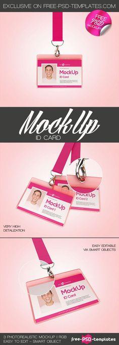3 Free ID Card Mock-ups in PSD on Behance