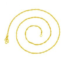 16 Inch Classic 18K Gold White Gold Plated Necklace Gold Chain Short Necklace