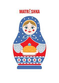 Items similar to Matryoshka poster. From Russia With Love. Traditionally Russian doll on Etsy Matryoshka Doll, Kokeshi Dolls, Diy Bag Painting, Nesting Doll Tattoo, Sunflower Wallpaper, Ukrainian Art, Russian Art, Teaching Art, Drawing For Kids