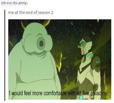 THE BIGGEST SHADE, voltron season 2 ending, i would feel more comfortable with all five paladins